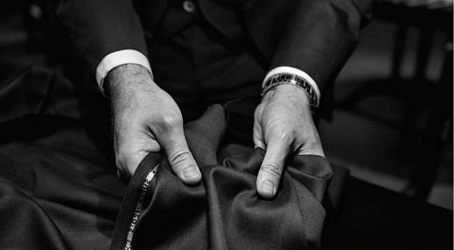 Spanish bespoke suits by Santa Eulalia