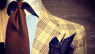 Italian handmade men's suits by Sciamat