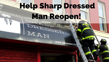 Recycled suit program Sharp Dressed Man needs your help to be able to continue helping others!