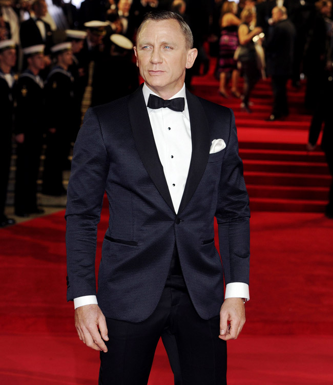 British actor Daniel Craig - as stylish as his character James Bond