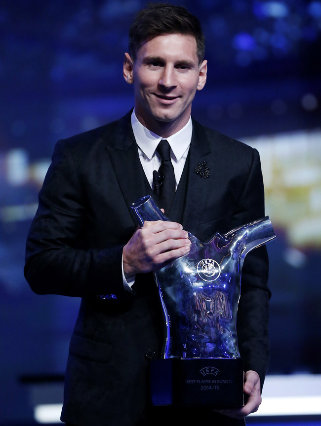 Celebrities' style: FIFA Ballon d'Or 2015 Winner Lionel Messi