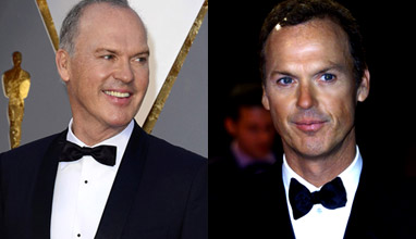 Michael Keaton with a star on the Hollywood Walk of Fame and timeless elegance