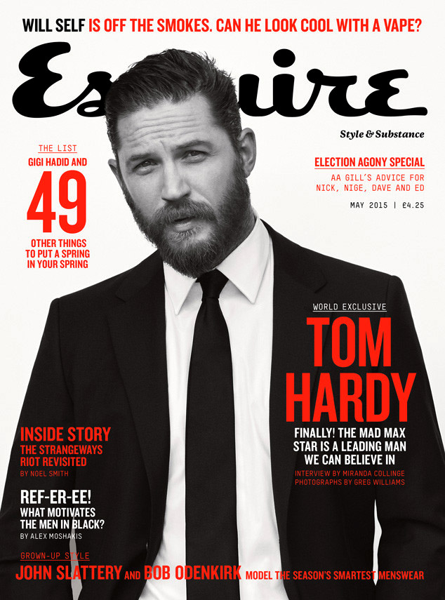 Tom Hardy -  handsome, charismatic and stylish