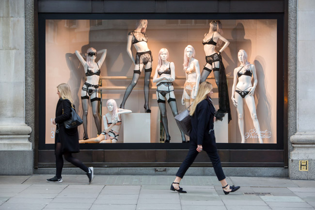 Selfridges London opened the world's first fully integrated bodywear department