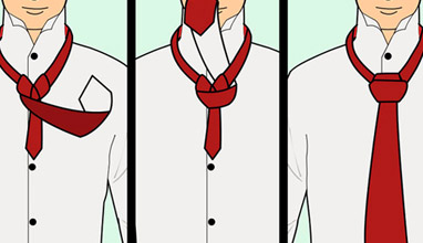 Neckties: Four-in-hand and Windsor knot