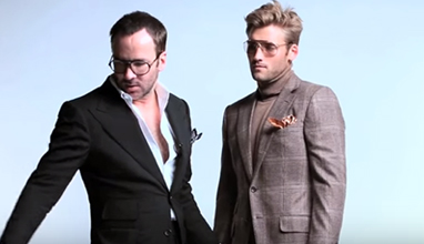 Tom Ford transforming the salesman Toby Watkins into gentleman