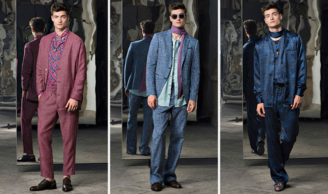 Trussardi Spring/Summer 2017 collection - a protagonist of a dandyism