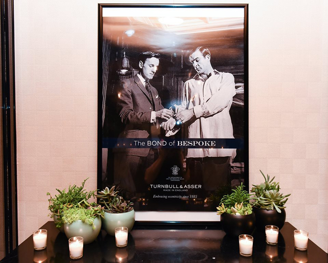 Turnbull & Asser organised a private dinner to present the rich history of the brand