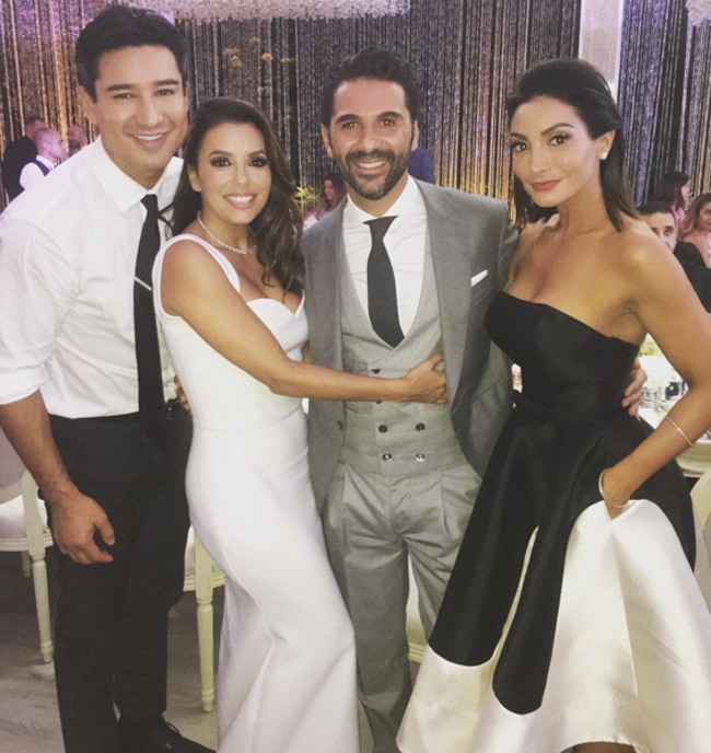 Eva Longoria & Courtney Lopez shine in Ieena Duggal - Who wore it best?