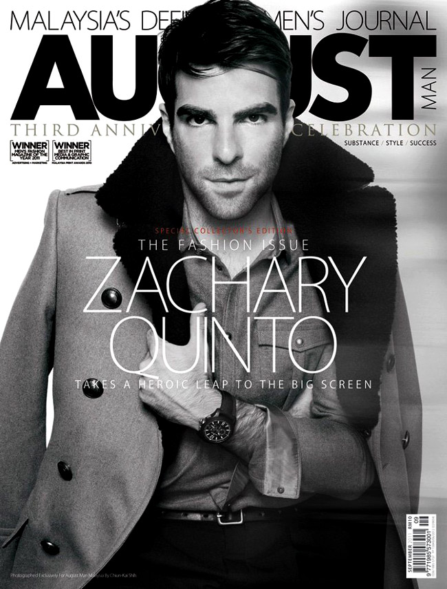 Celebrities' style: Star Trek's Zachary Quinto