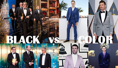 Global survey - Black or Color Suits on the Academy Awards, Music Awards and other formal events