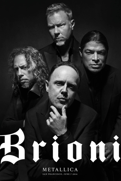 Rock band Metallica are the stars of Brioni's first advertising campaign