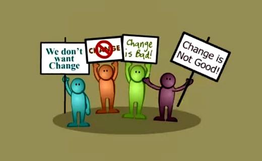 Люди сопротивляются изменениям