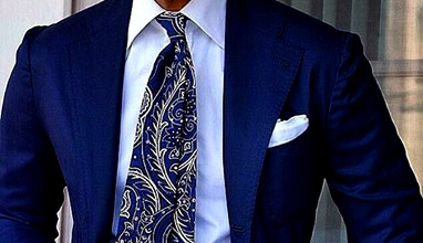 Men's suit accessories: The seven-fold tie