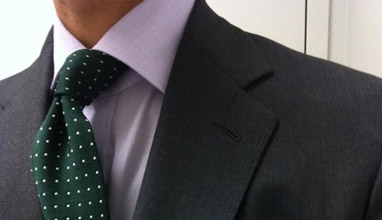 The trio of the men's shirt, necktie and suit jacket