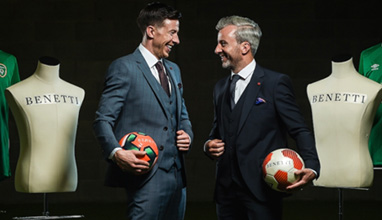 Benetti Menswear are the Official Tailor to the Football Association of Ireland