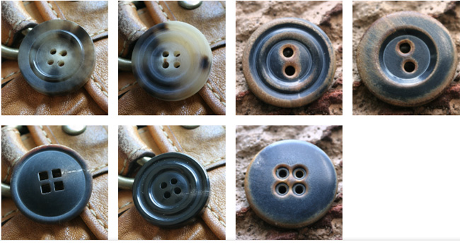 Types of buttons for clothing