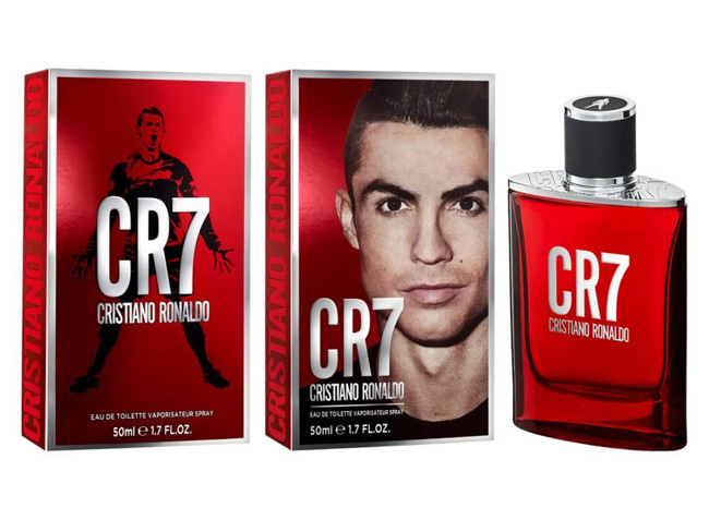 Cristiano Ronaldo with a new fragrance