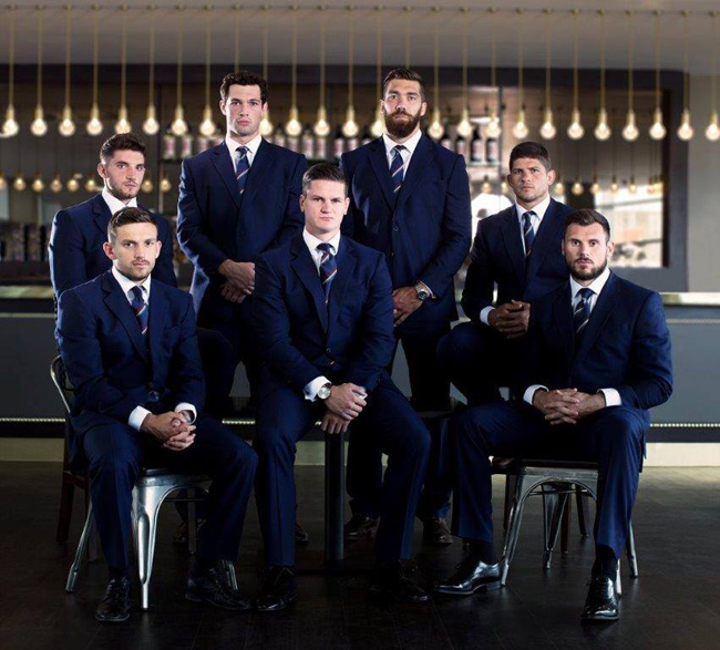 Chester Barrie is dressing the Leicester Tigers