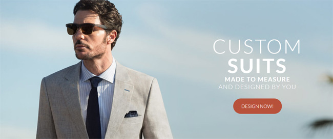 to order a custom-made men's suit online?