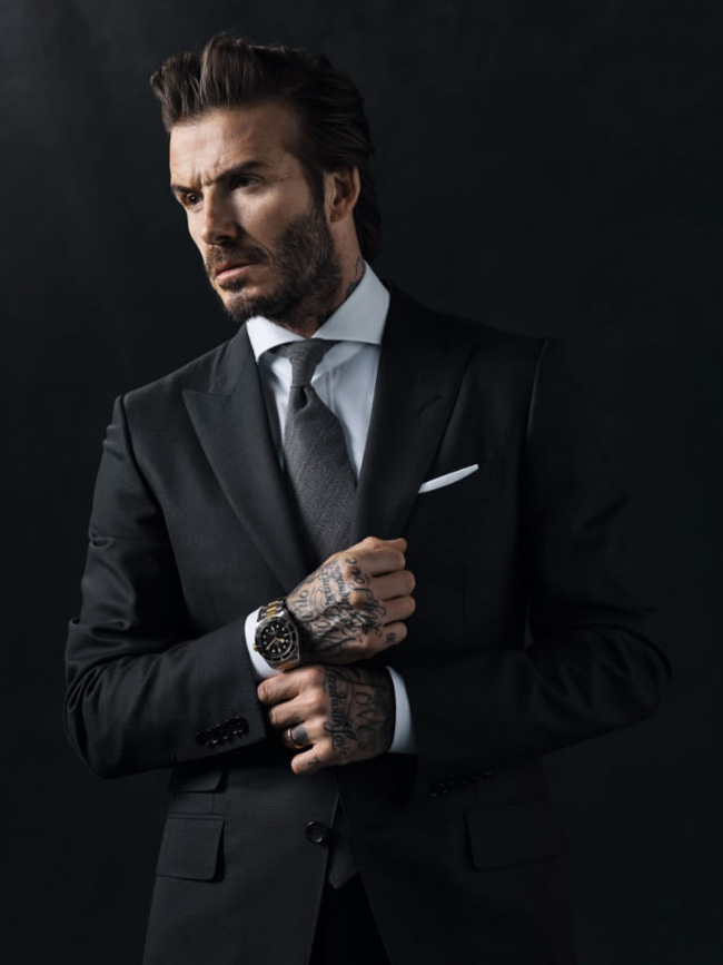 David Beckham as a face of Tudor watches