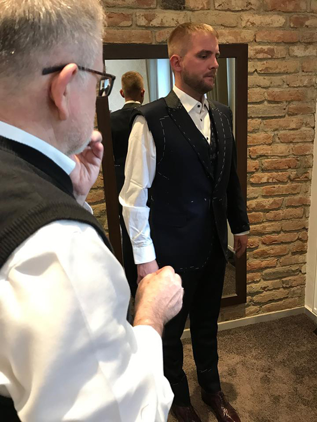 Tailored suits by Galard from Czech Republic
