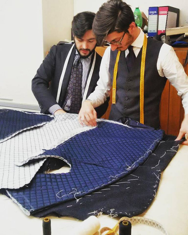 Bespoke men's suit tailors in Rome