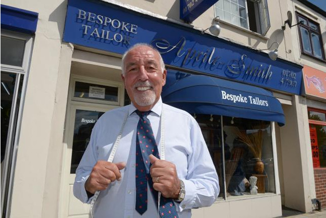 Arthur Aprile-Smith - well known tailor is retired at the age of 70