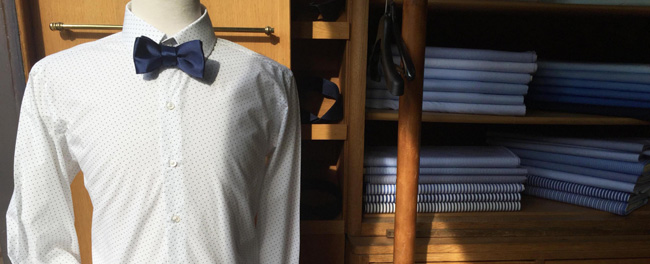 French bespoke shirts by Maison Courtot