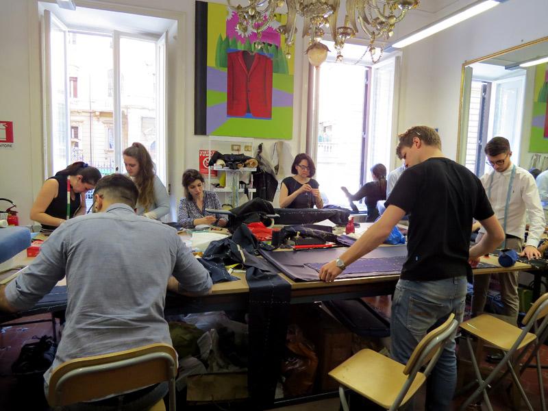 Sartoria Gallo is a tailor shop in Rome