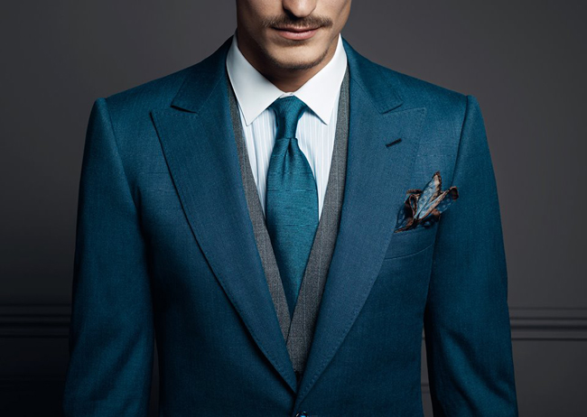 French bespoke suits by Francesco Smalto