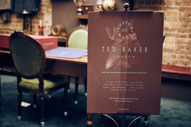 Custom made suits by Ted Baker