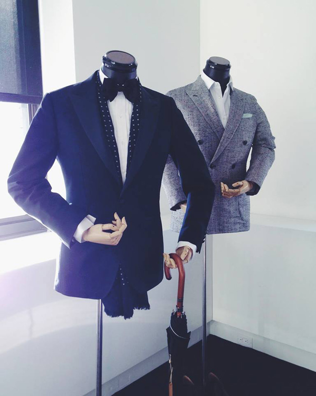 Bespoke suits by Thom Sweeney