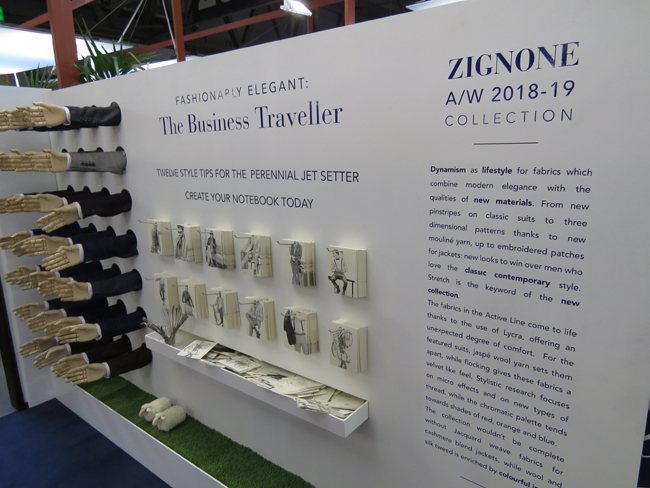 Lanificio Zignone collezione A/I 2018-2019 - Tessuti, interamente 'made in Italy',  ispirati al dinamismo del business traveller