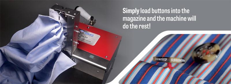 Automatic heat sealing button wrapping machine