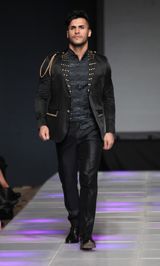 Designer Carlos Benguigui at Couture Fashion Week New York