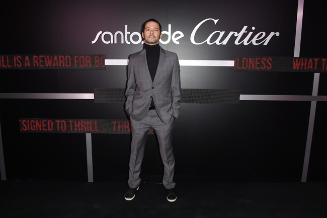Cartier celebrated the launch of the Santos de Cartier watch