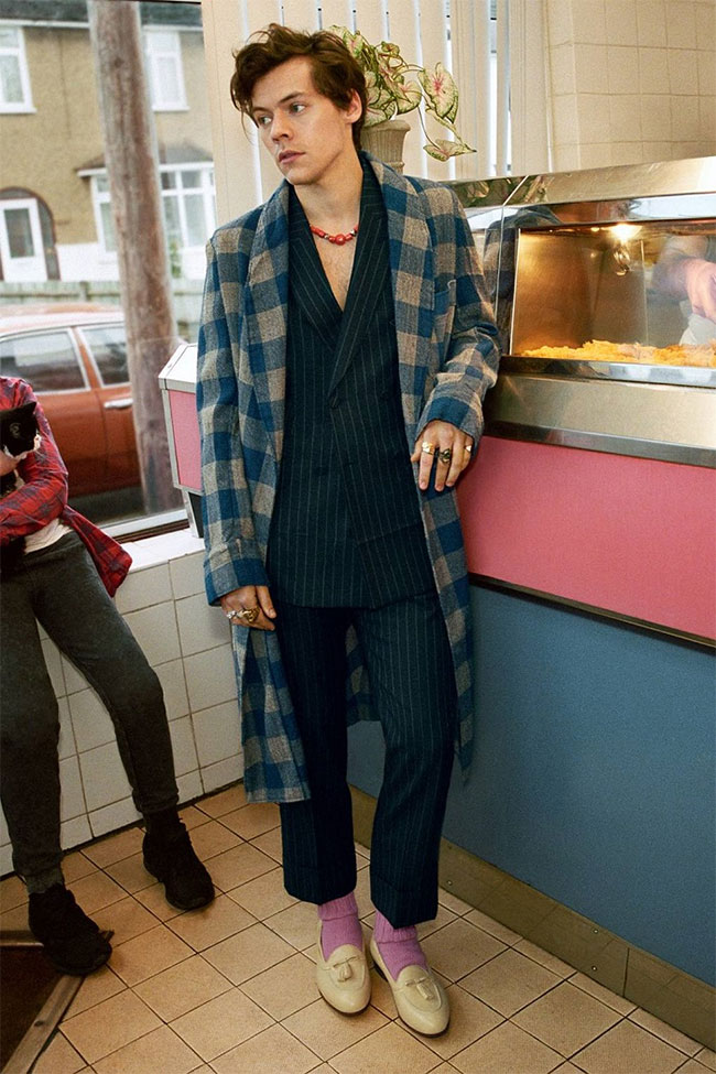 Harry Styles - the face in Gucci Tailoring Campaign