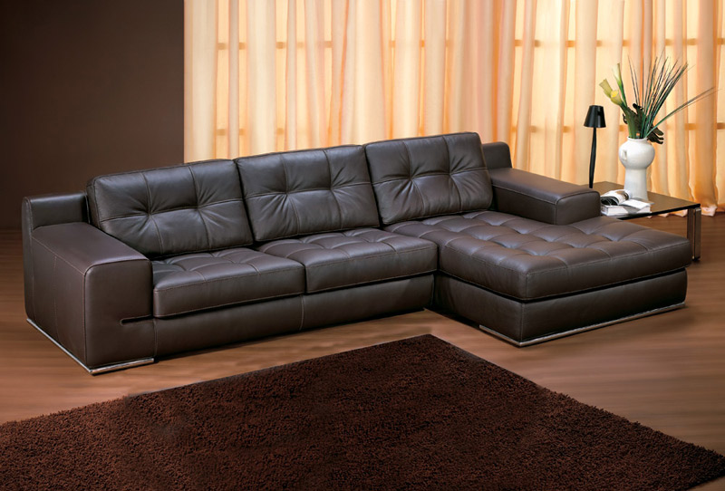 Incredible Leather Lounges Sofa