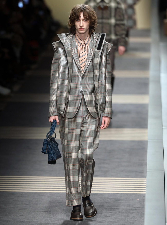 Milan Fashion Week presented men's suit trends Fall/Winter 2018-2019