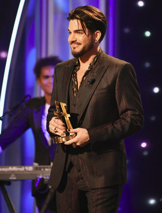 For the third time this year - Adam Lambert is the winner of Most Stylish Men 2018