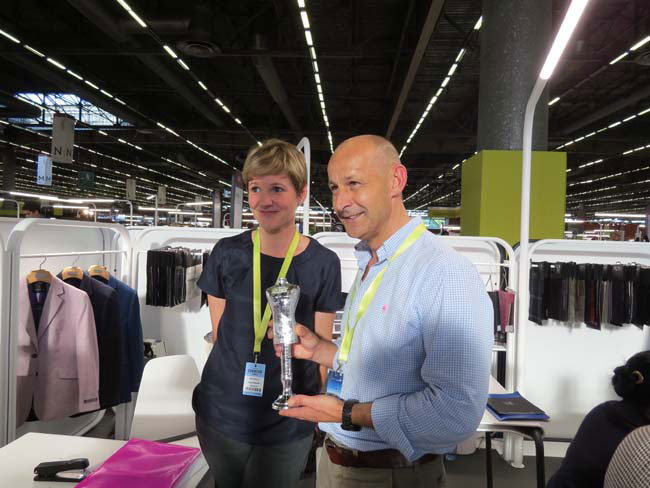 Marton Mills received the 303 Tuscans Ethical Fashion award