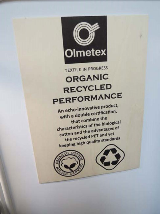 Olmetex Spa awarded by 303 Tuscans Ethical Fashion