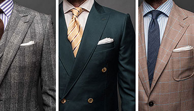 Types of suit shoulder styles