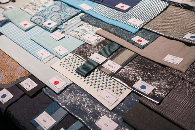 Sustainable fabrics were shown during Milano Unica 26th edition