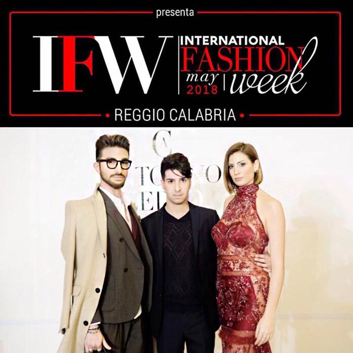 Lo stilista Antonino Cedro parteciperà alla terza edizione International Fashion Week