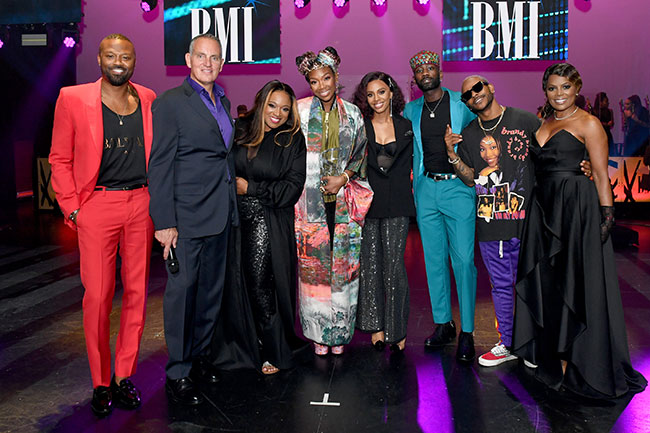 Brandy honored with the BMI president's award at the 2019 BMI R&B/HIP-HOP awards