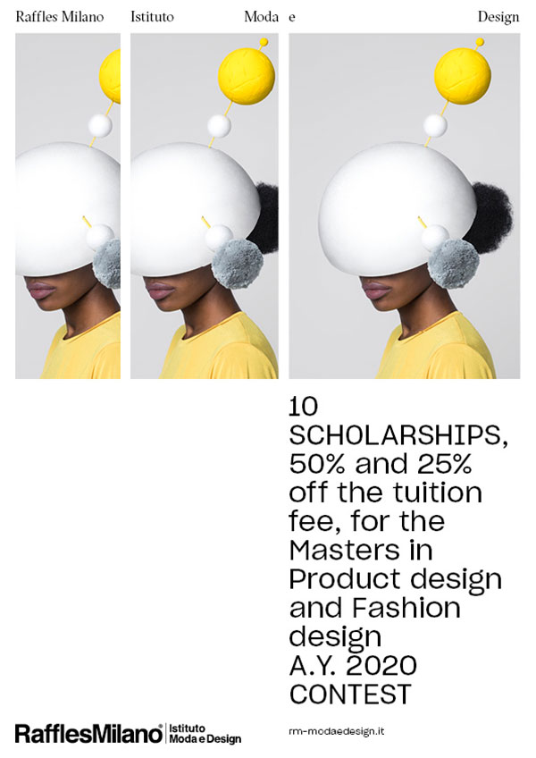 Win 10 scholarships for the International Masters in Product Design and Fashion Design 2020