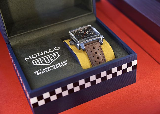 TAG Heuer kicked off the 50th anniversary celebrations for the Monaco timepiece