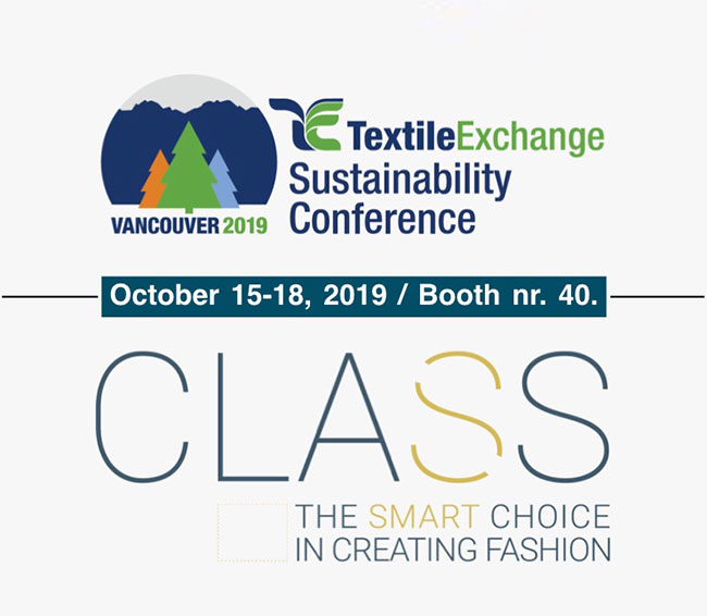 C.L.A.S.S. flies to Textile Exchange Sustainability Conference 2019 in Vancouver